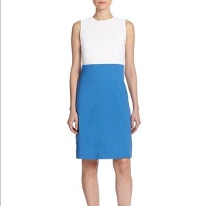 theory color block dress